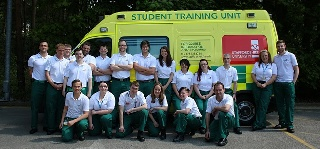 New practice ambulance brings trainee paramedics closer to real-life experience
